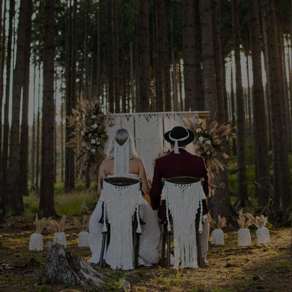 Macramé svadobné dekorácie